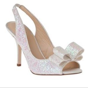 Kate Spade White Charm Heels